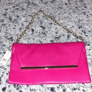 NY&CO Pink Clutch + Silver Hardware